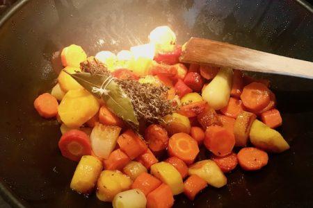 Poêlée salée aux légumes
