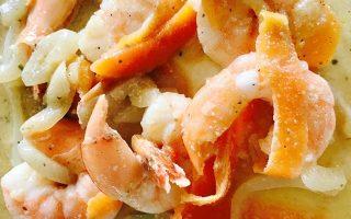Crevettes sauce orange et miel