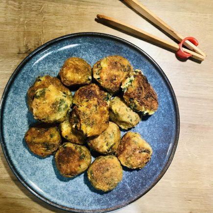 Boulettes d'épinards frais et pommes de terre PM
